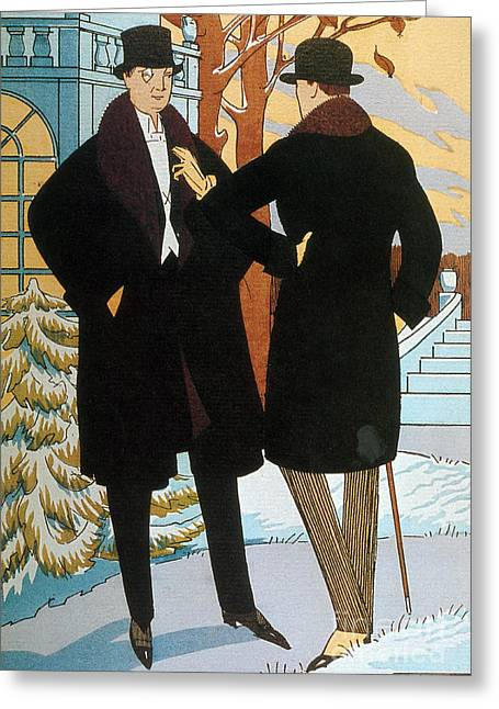 Popular Art Greeting Cards - Mens Fashion, 1919 Greeting Card by Science Source