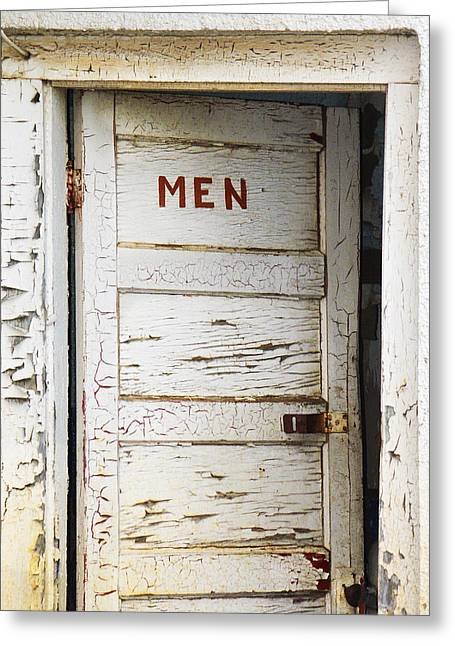 Locked Out Greeting Cards - Mens Room Greeting Card by Marilyn Hunt