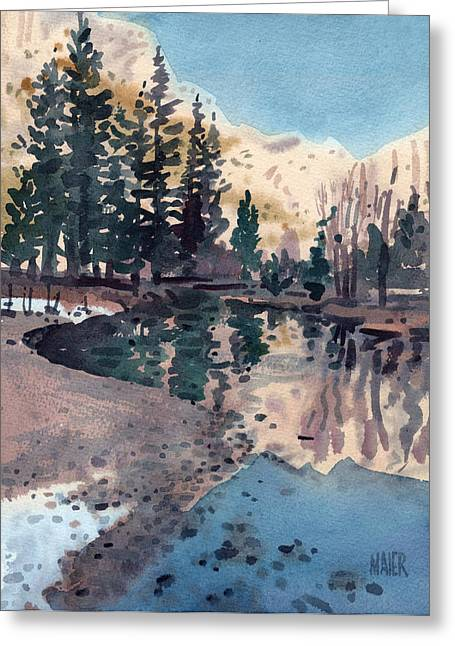 Merced River Greeting Cards - Merced River in January Greeting Card by Donald Maier