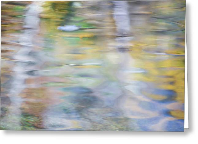 Merced River Reflections 6 Greeting Card by Larry Marshall