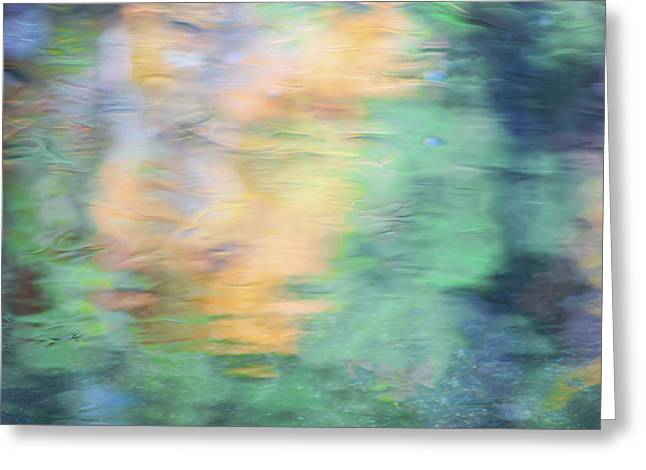 Merced River Reflections 7 Greeting Card by Larry Marshall