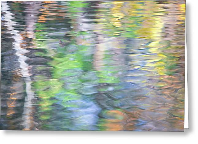 Merced River Reflections 9 Greeting Card by Larry Marshall