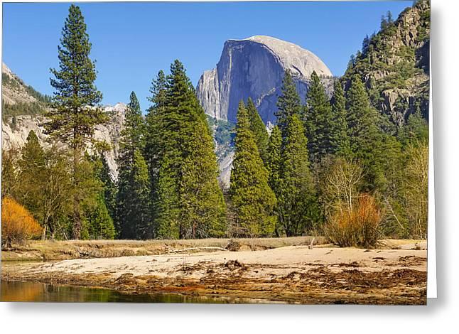 Merced River Greeting Cards - Merced River Yosemite Greeting Card by Lutz Baar
