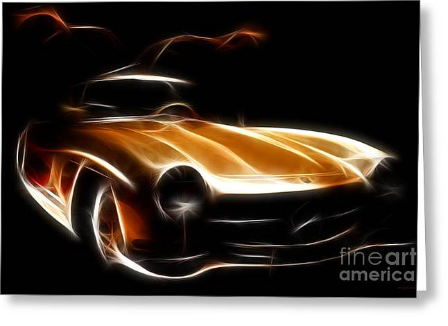 Mercedes 300sl Gullwing Greeting Cards - Mercedes 300SL Gullwing Greeting Card by Wingsdomain Art and Photography