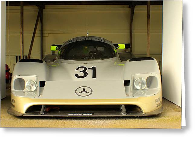Sauber Greeting Cards - Mercedes-Benz C11 Greeting Card by Robert Phelan