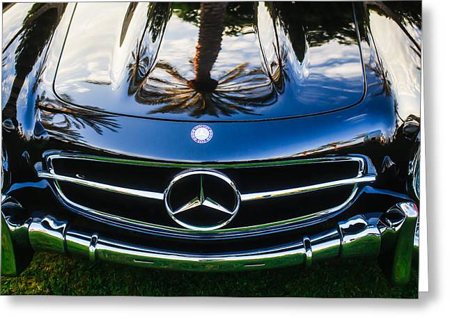Famous Photographer Greeting Cards - Mercedes-Benz Grille Emblem -0185c Greeting Card by Jill Reger