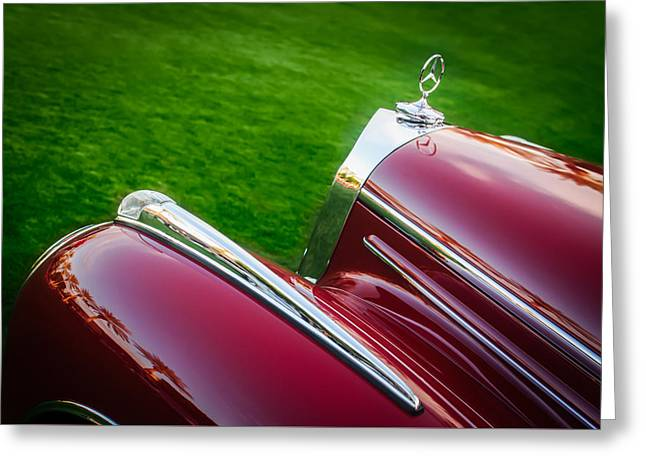 Famous Photographer Greeting Cards - Mercedes-Benz Hood Ornament -0229c Greeting Card by Jill Reger