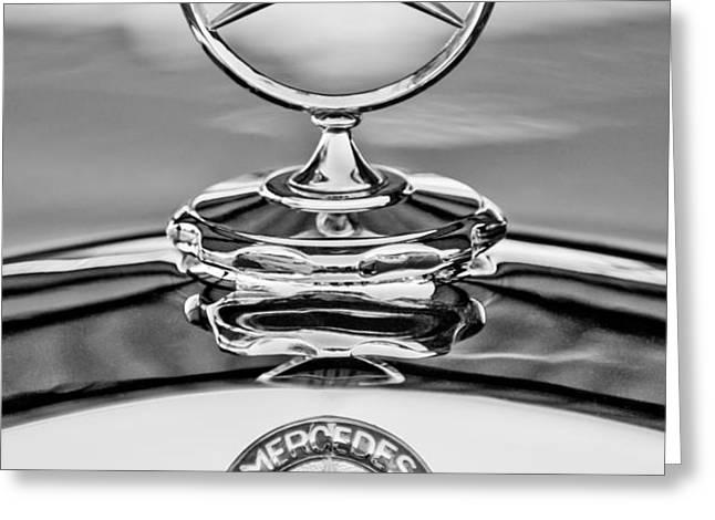 Mercedes Benz Hood Ornament 2 Greeting Card by Jill Reger