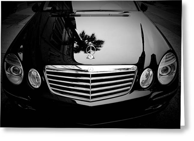 Charleston Greeting Cards - Mercedes Benz Palm Reflection Greeting Card by Dustin K Ryan