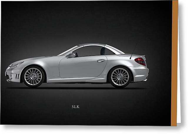 Mercedes Benz Greeting Cards - Mercedes Benz SLK Greeting Card by Mark Rogan