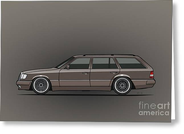 Mercedes Benz W124 E-class 300te Wagon - Anthracite Grey Greeting Card by Monkey Crisis On Mars