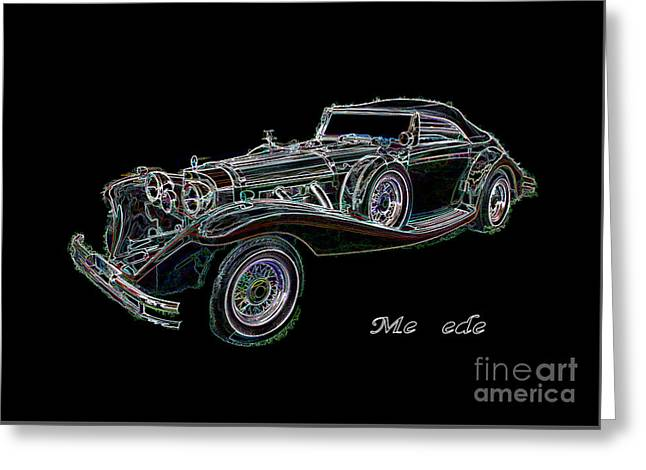Coloured Greeting Cards - Mercedes Coloured Pencils Greeting Card by Peter McHallam