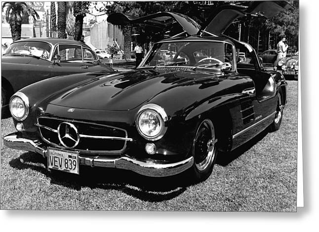 Mercedes 300sl Gullwing Greeting Cards - Mercedes Gull Wing Coupe Greeting Card by Underwood Archives