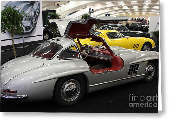 Sf Greeting Cards - Mercedes Gullwing Greeting Card by Wingsdomain Art and Photography