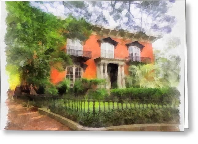 Mercer House Greeting Card by Teresa Henry