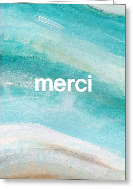 Merci- Art By Linda Woods Greeting Card by Linda Woods