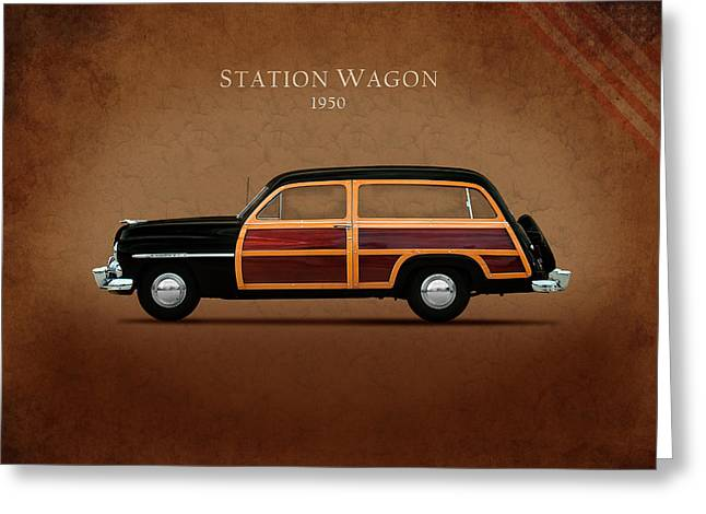 Station Wagon Photographs Greeting Cards - Mercury Station Wagon 1950 Greeting Card by Mark Rogan