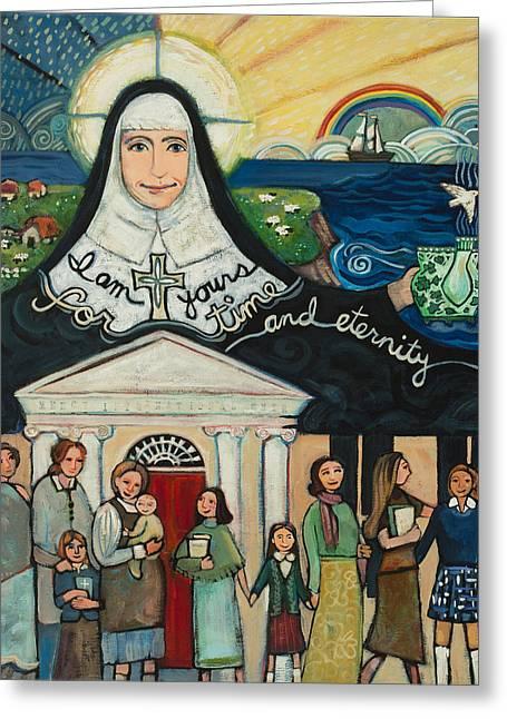 Mercy Foundress Catherine Mcauley Greeting Card by Jen Norton