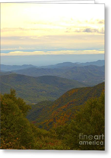 Landscape Framed Prints Greeting Cards - Mercy Me- A Fall view of Craggy Gardens NC Greeting Card by Johnnie Stanfield
