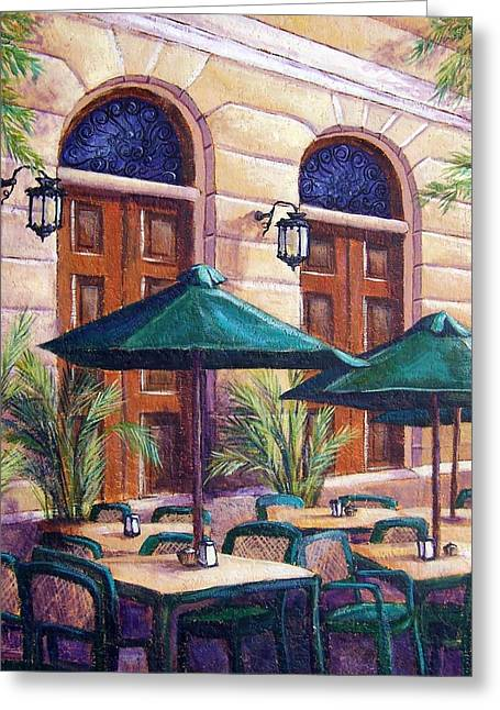 Merida Cafe Greeting Card by Candy Mayer
