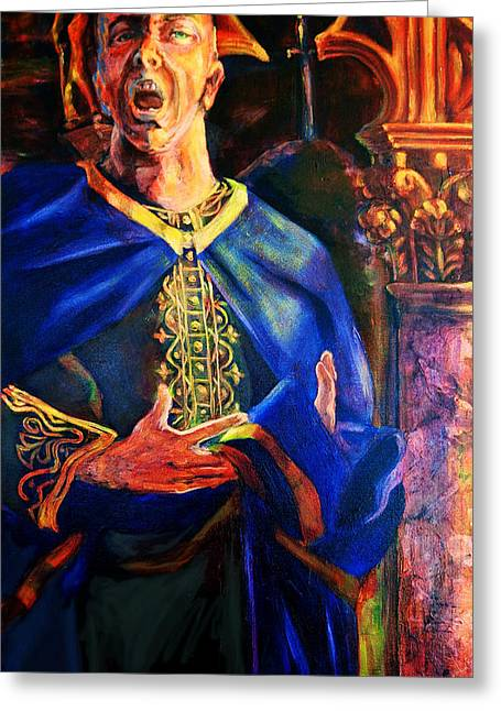 Warrior Goddess Greeting Cards - Merlin Greeting Card by David Matthews