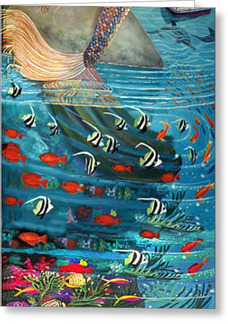 Angel Blues Greeting Cards - Mermaid In Paradise Greeting Card by Bonnie Siracusa