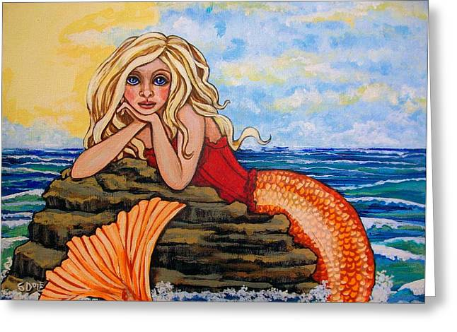 Under The Sea Mermaid Greeting Cards - Mermaid Sory Greeting Card by Sherry Dole