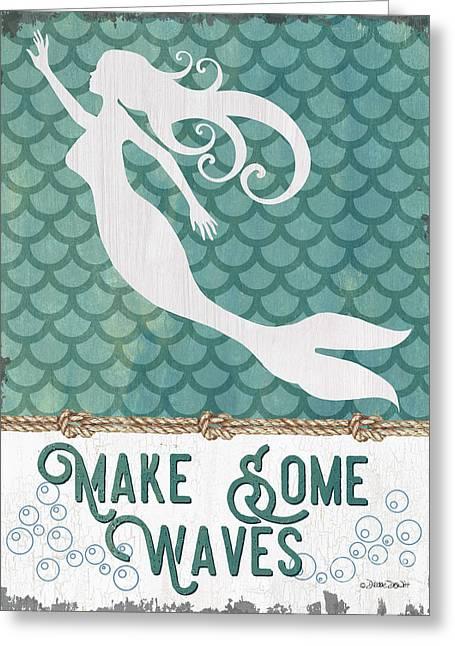 Mermaid Waves 1 Greeting Card by Debbie DeWitt