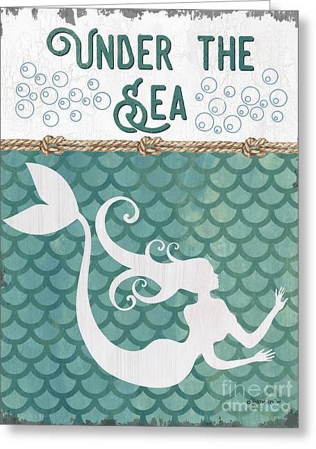 Mermaid Waves 2 Greeting Card by Debbie DeWitt
