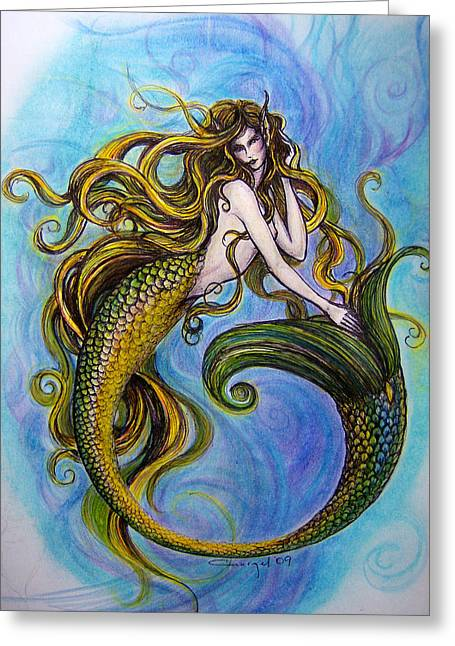 Merr Greeting Card by Caroline Czelatko