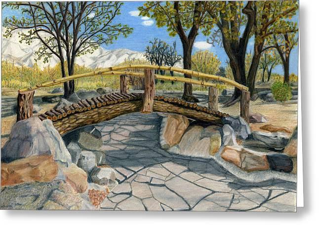 Merritt Park Bridge Greeting Card by Joy Lavery