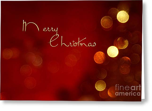 Aimelle Photographs Greeting Cards - Merry Christmas Card - Bokeh Greeting Card by Aimelle