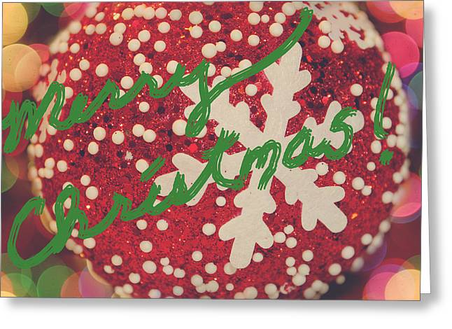 Merry Christmas Greeting Card by Laurie Search