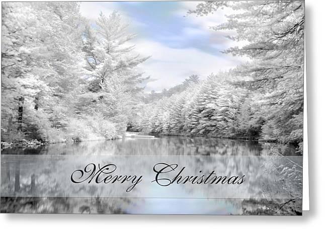 Merry Christmas - Lykens Reservoir Greeting Card by Lori Deiter