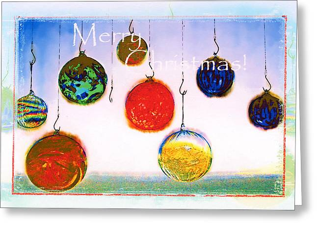Glass Floats Greeting Cards - Merry Christmas Greeting Card by Margaret Hood