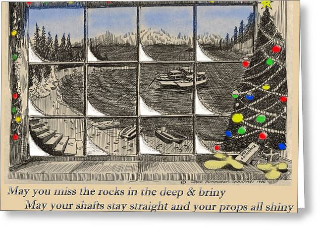 Merry Christmas Yachting Friends Greeting Card by Jack Pumphrey