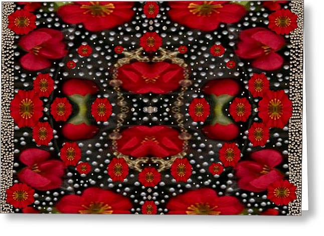 Harmonize Greeting Cards - Merry Florals Greeting Card by Pepita Selles