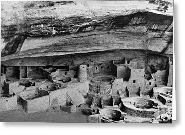 Adobe Greeting Cards - Mesa Verde: Cliff Palace Greeting Card by Granger