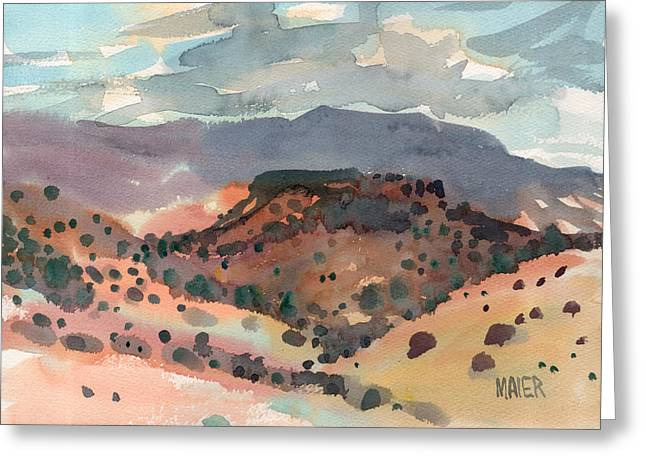 Mesa Greeting Cards - Mesas to Mountains Greeting Card by Donald Maier