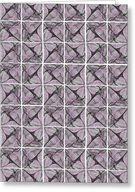 Mesh Wall Greeting Card by Marcile Powers