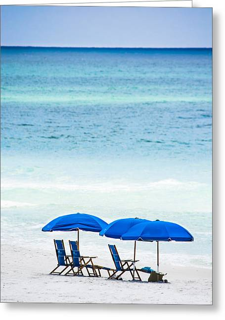 Blue Green Wave Greeting Cards - Mesmerizing Blues Greeting Card by Shelby  Young