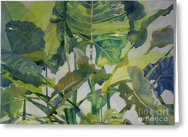 Mess Of Greens Greeting Card by Elizabeth Carr