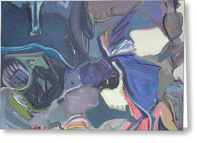 Abstract Expressionist Greeting Cards - Message in a Bottle Greeting Card by Philip Rader