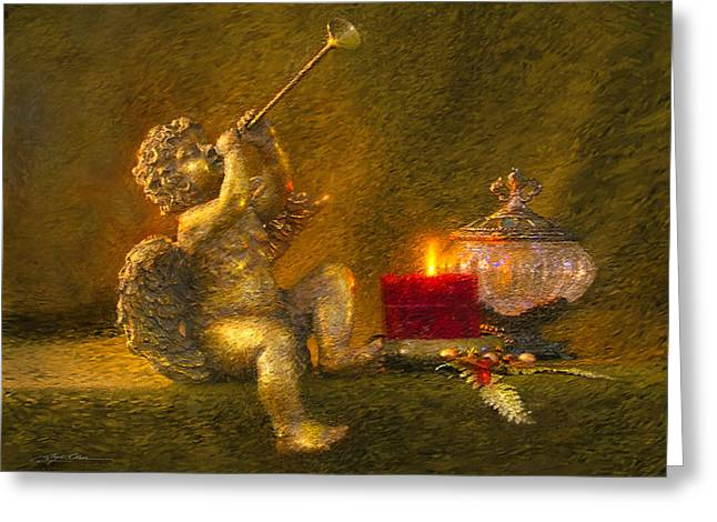 Gold Angel Greeting Cards - Messages From Heaven Greeting Card by Greg Olsen