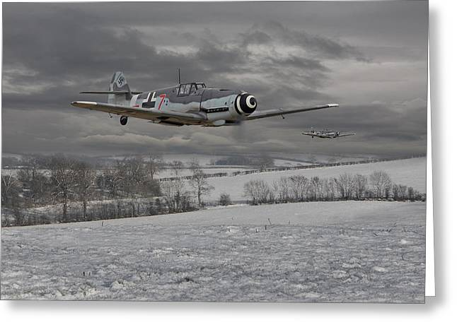Messerschmitt Bf 109 G - Gustav Greeting Card by Pat Speirs