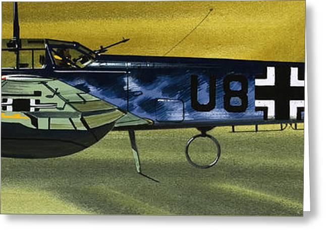 Messerschmitt Greeting Card by Wilf Hardy