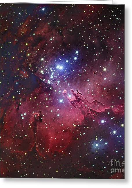 Colorful Cloud Formations Greeting Cards - Messier 16, The Eagle Nebula In Serpens Greeting Card by Robert Gendler