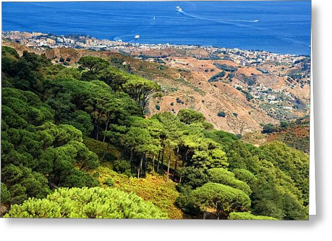 Messina Strait - Italy Greeting Card by Silvia Ganora