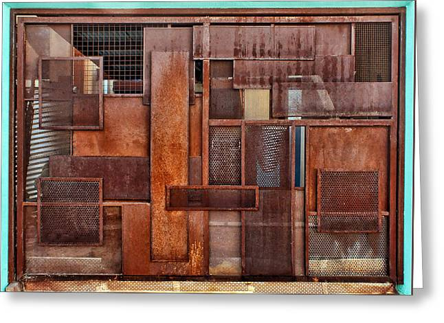 Abstract Shapes Greeting Cards - Metal - Abstract - Rust Greeting Card by Nikolyn McDonald