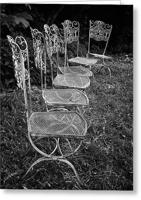 Swiss Photographs Greeting Cards - Chairs 1 Greeting Card by Colleen Williams